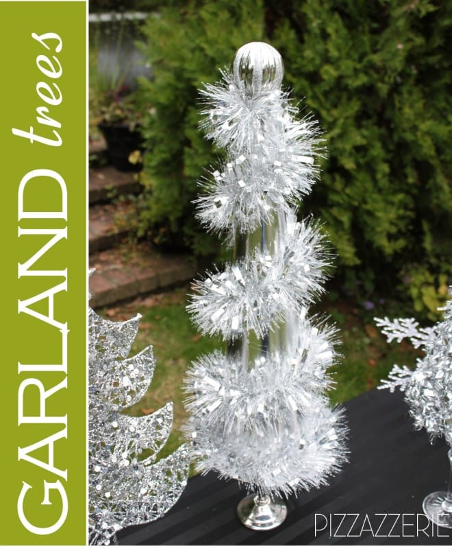 how to make diy garland christmas trees