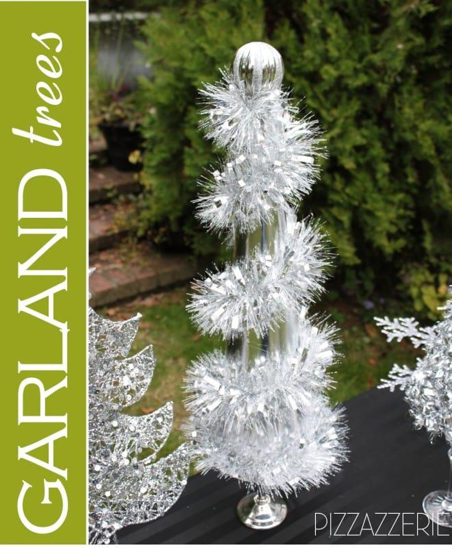 how to make diy garland christmas trees