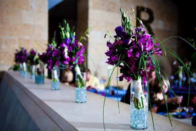 purple wedding bouquets