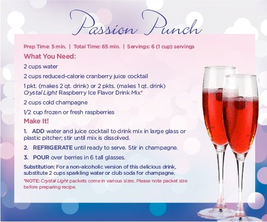 crystal light cocktail passion punch recipe