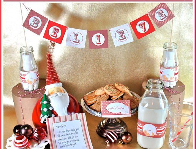 Santa's Milk and Cookies & PlatesandNapkins.com Sale!