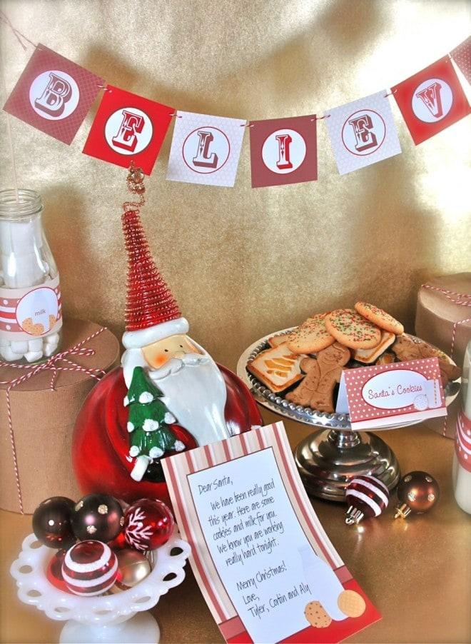santa's milk cookies