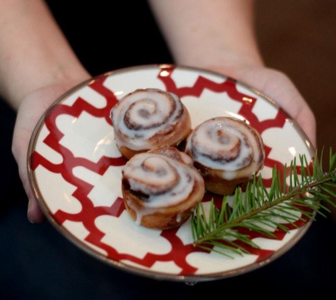 cinnamon buns on plate