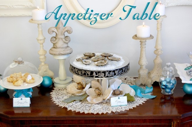 appetizer holiday table