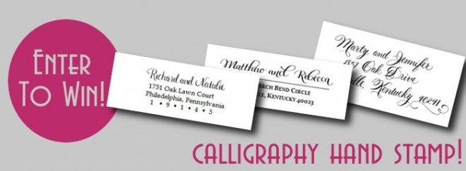 calligraphy hand stamp giveaway by jennifer gillespie