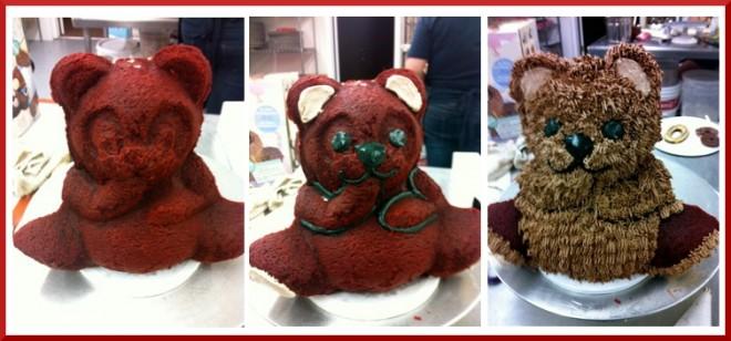christmas bear cake