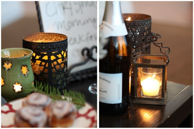 lanterns and candles for christmas entertaining holiday parties
