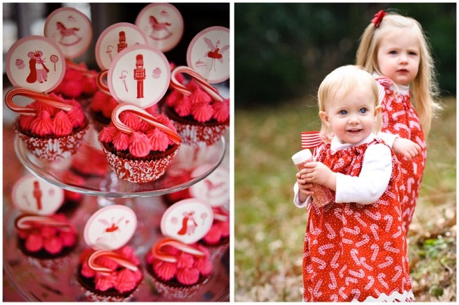 peppermint cupcakes christmas girls