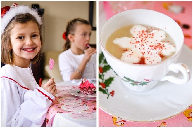 nutcracker christmas sweet tea party with hot cocoa