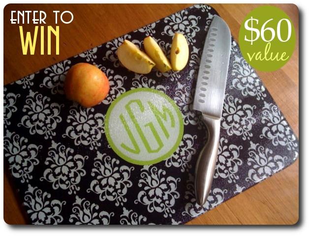 giveaway cutting board