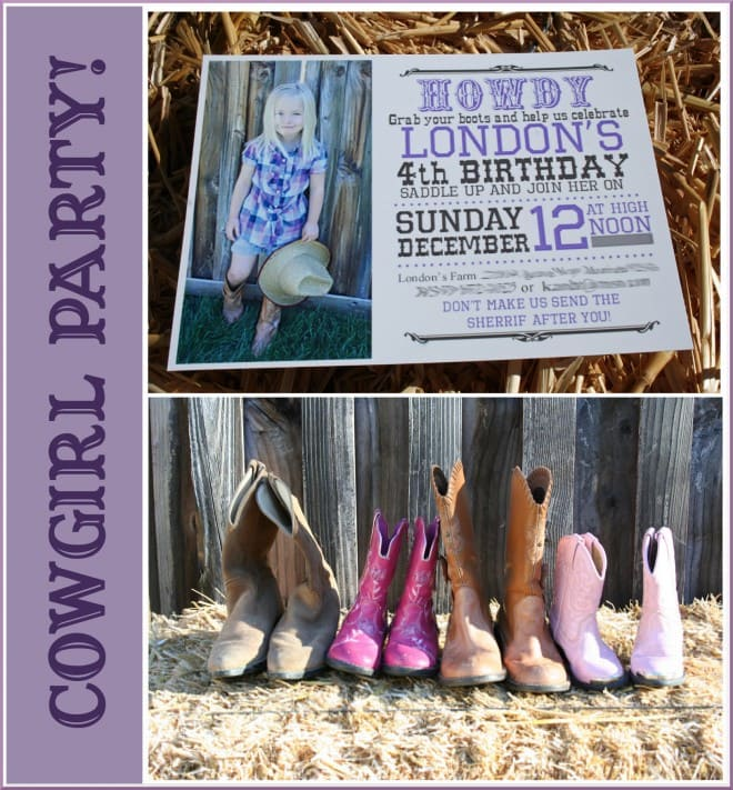 cowgirl party purple