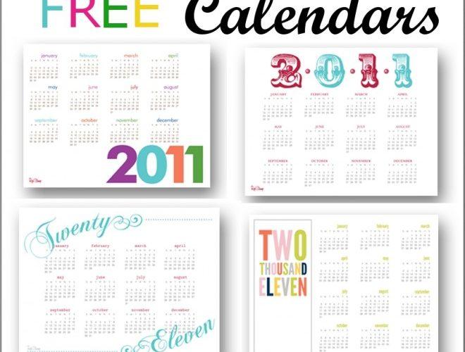 2011 Free Printable Calendars