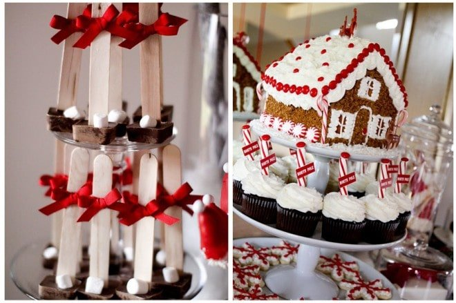 hot chocolate on a stick gingerbread house making