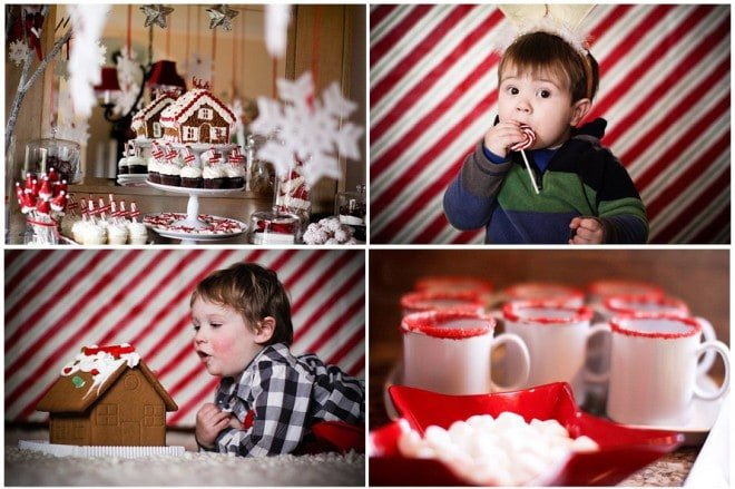 gingerbread house decorate party