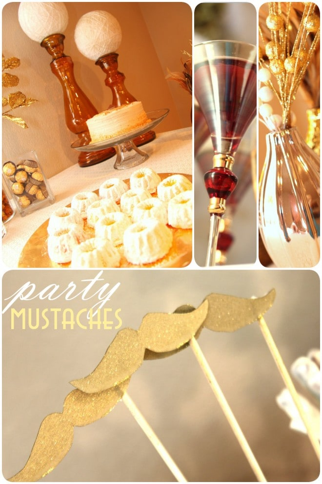 new years party mustaches on stick