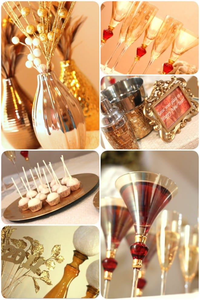 gold new years party ideas