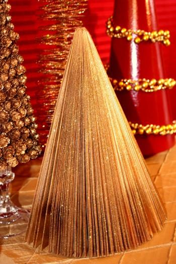 gold magazine christmas tree