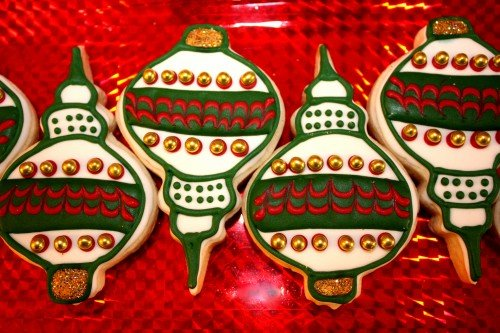 decorated ornament christmas cookies