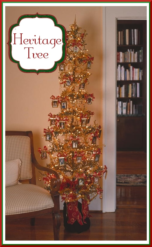 heritage picture frame christmas tree