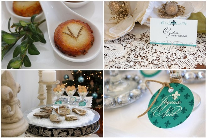holiday appetizer table