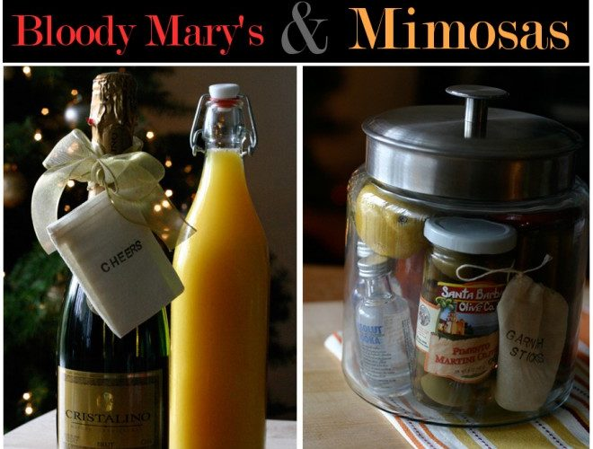 Hostess Gifts: Bloody Mary's & Mimosas