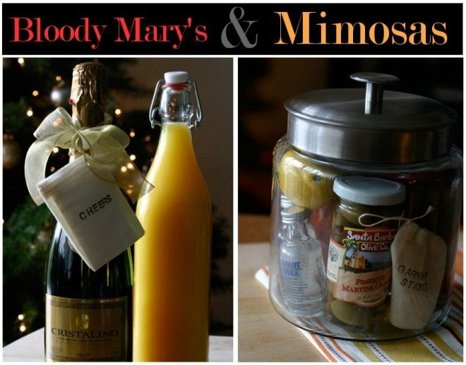 bloody mary and mimosa kits for the morning after hostess gifts