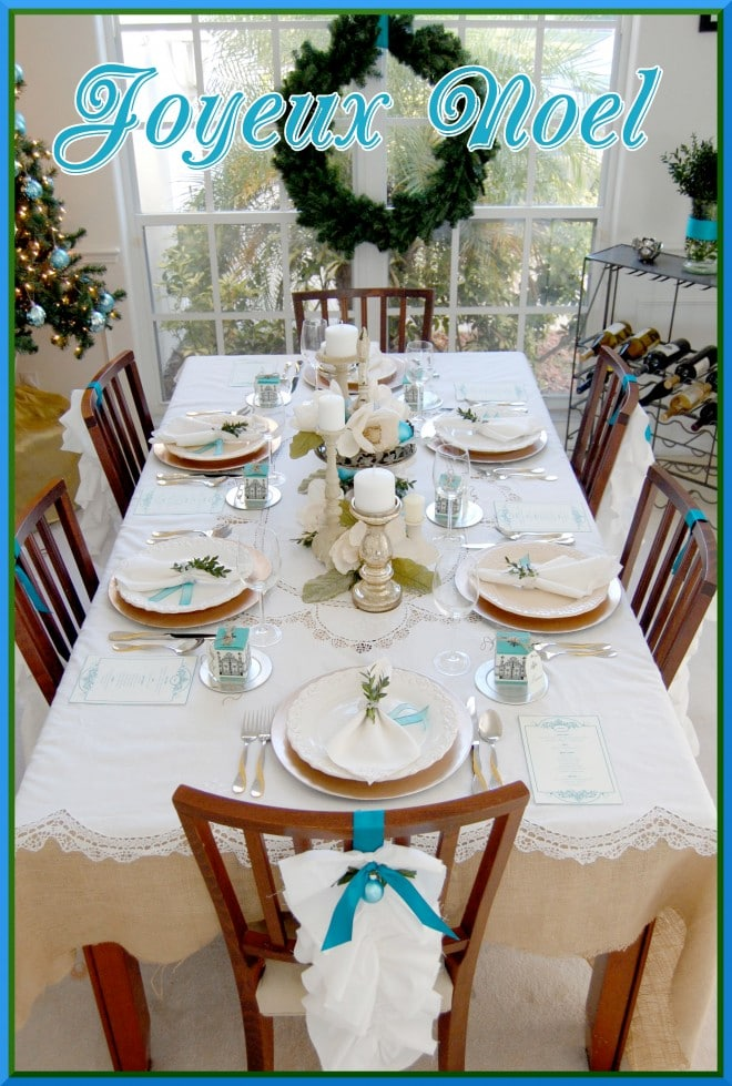 joyeux noel full holiday tablescape