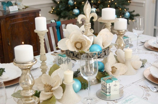 dinner party holiday centerpiece