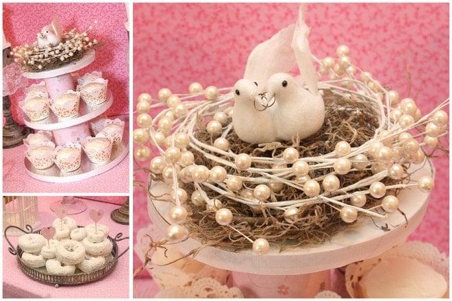love bird's bridal shower decorations