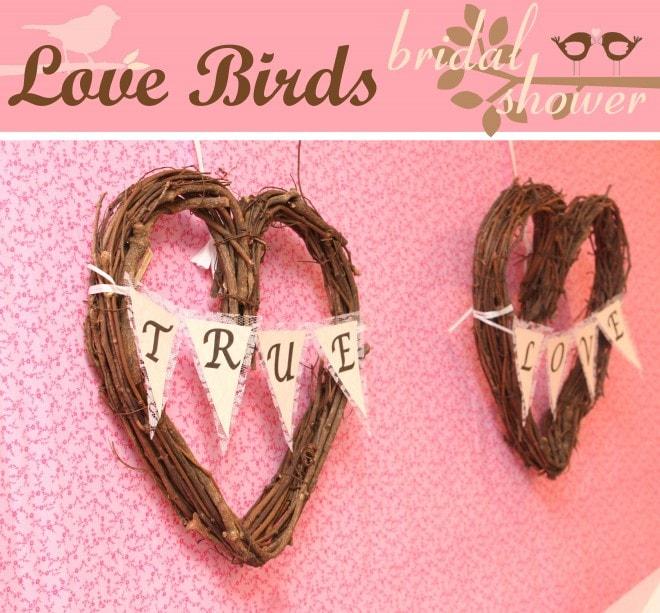 love birds bridal shower