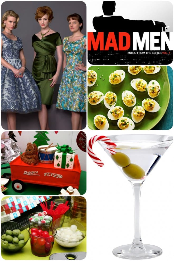 mad men inspired retro christmas party