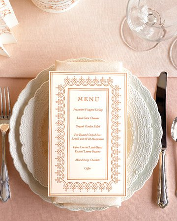 Top 8 diy wedding crafts pizzazzerie for Wedding menu cards templates for free
