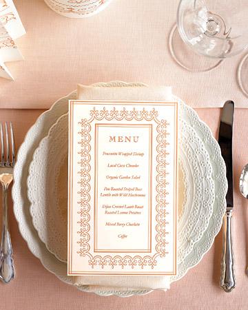 diy wedding menu templates