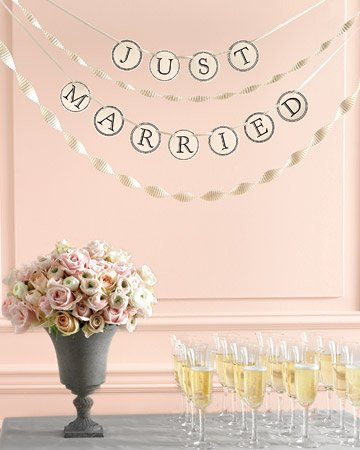diy just married sign