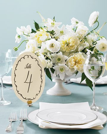 diy wedding number templates