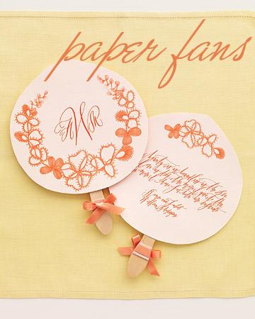 diy floral paper fans