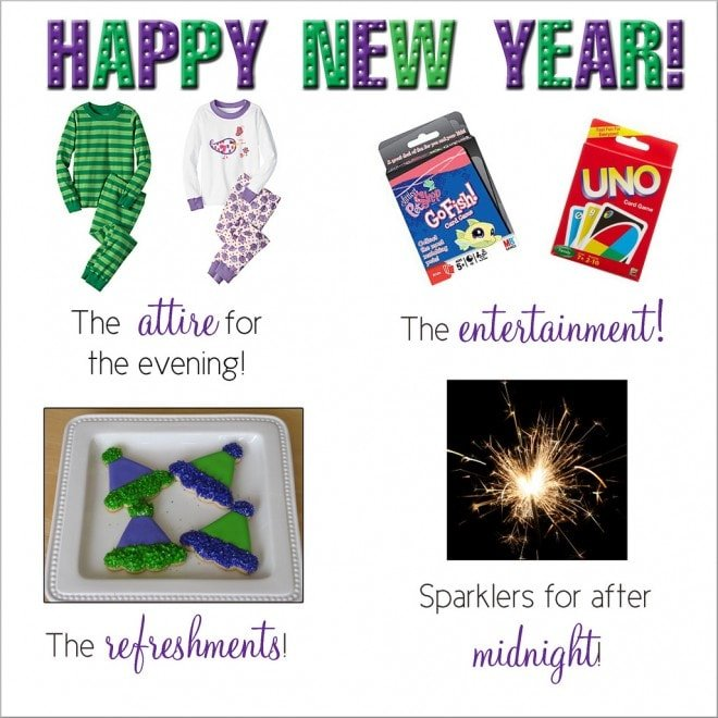 new years kids party pack