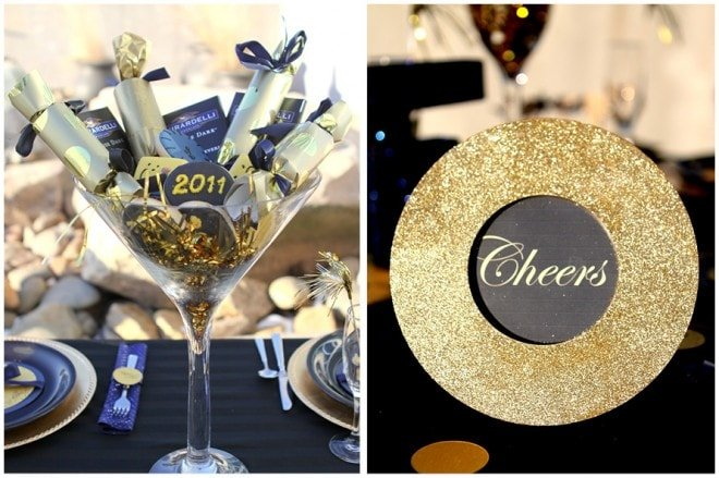 new years tablescape