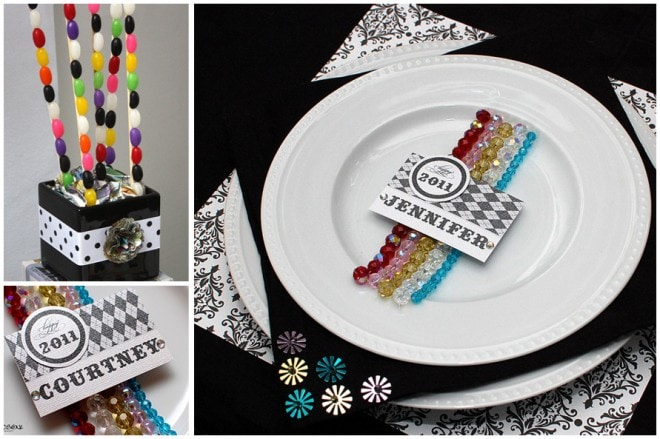 new year's children's place setting
