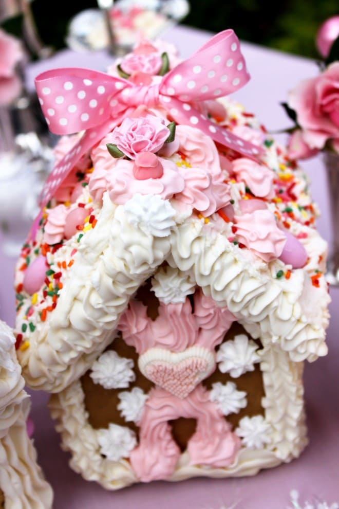 pink gingerbread house