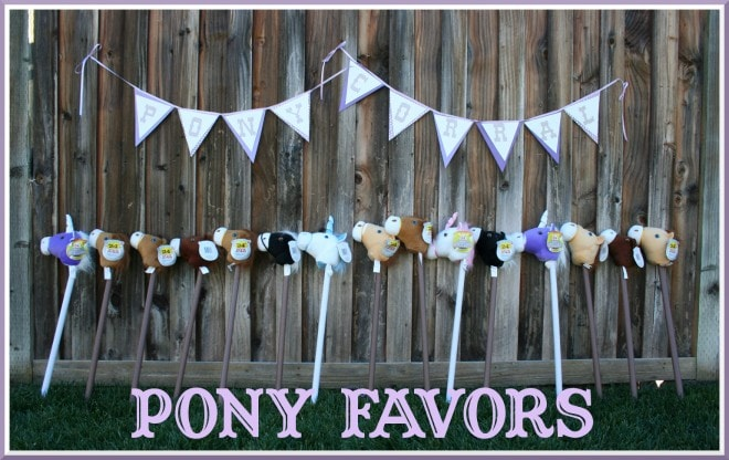 cowboy cowgirl party favors pony sticks