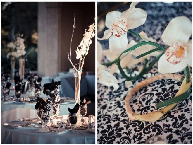 teal damask wedding