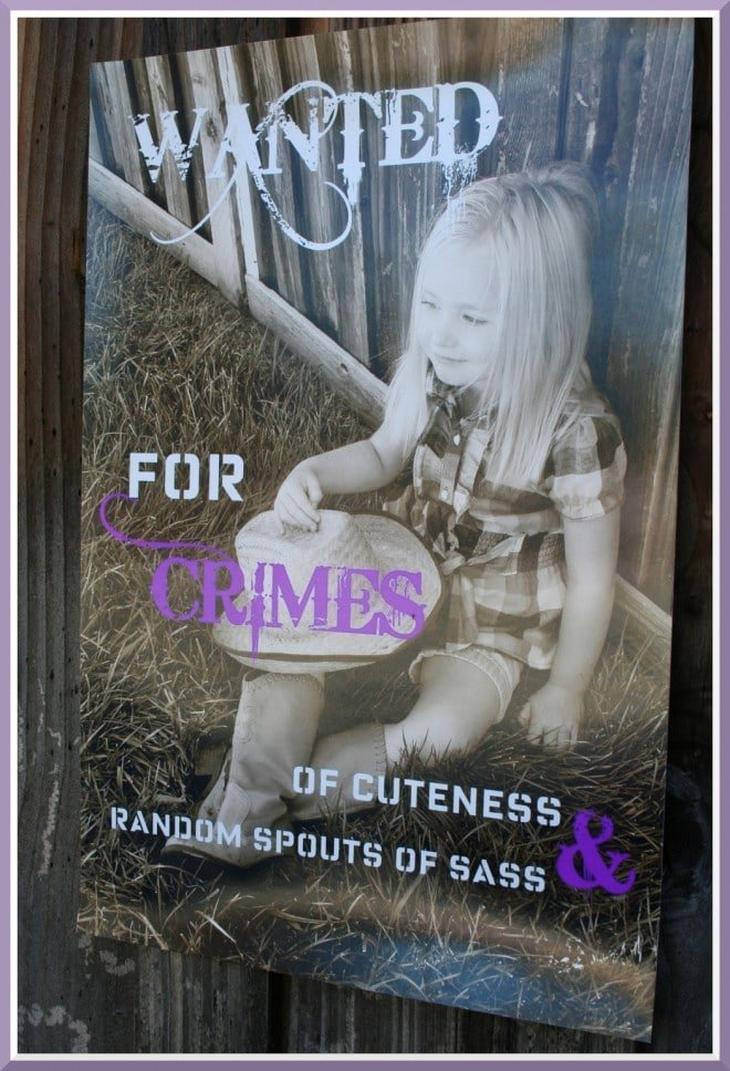 wanted cowgirl party sign