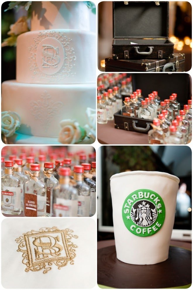 wedding cake starbucks groom cake