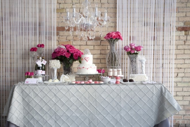glam valentine's day wedding