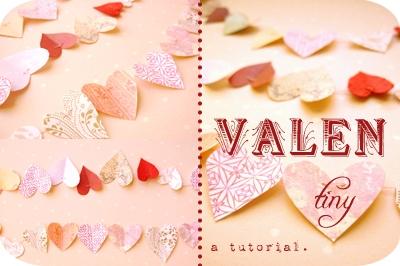 valentines heart garland diy