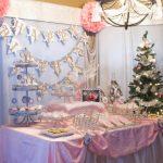 winter wonderland snow 1st birthday party