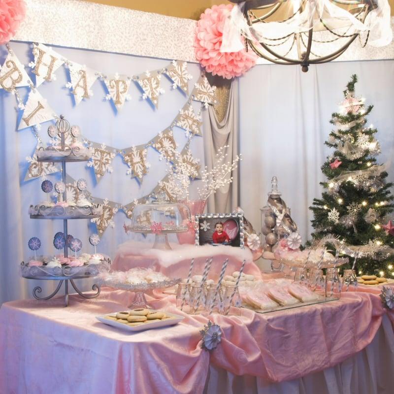 Snowflake 1st Birthday Party | Pizzazzerie