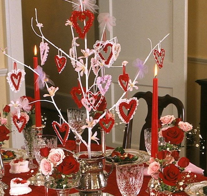 valentine's party centerpiece