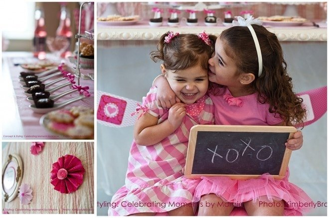 Valentine's Pink Party Girls Picture